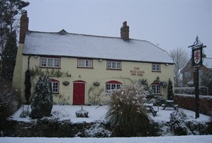 Red Lion in snow